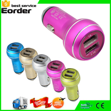 Dual Ports Safety Hammer Charger Cheapest Metal 12V USB Car Charger Battery For Phone