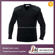 2017 New black v-neck knitting military commando uniforms pullover security/police sweater