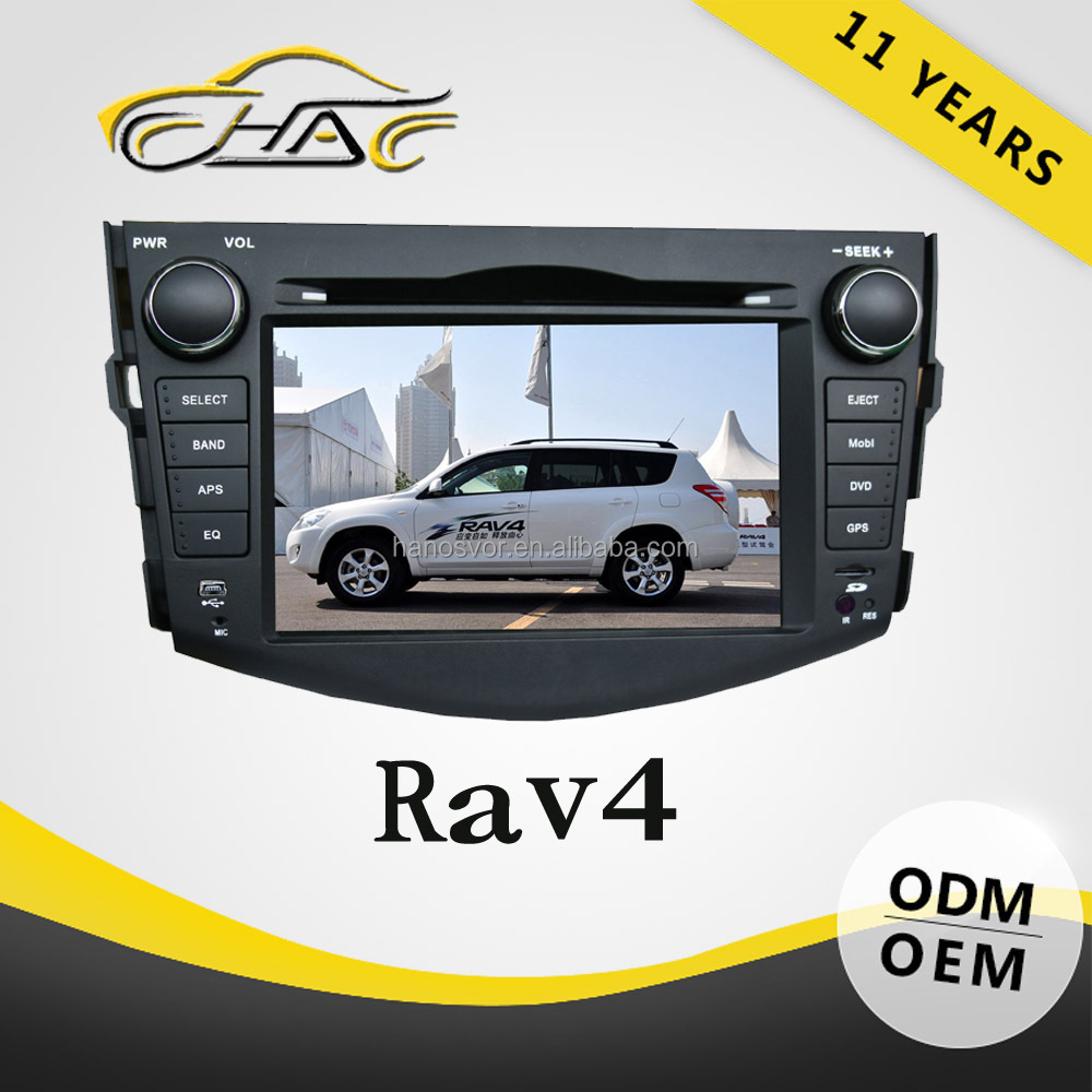 hd 1080p auto headrest dvd monitor car dab radio for toyota rav4 with dvd gps