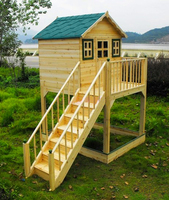 Cubby Wooden Play House,Beautiful wooden play house,children play wooden house