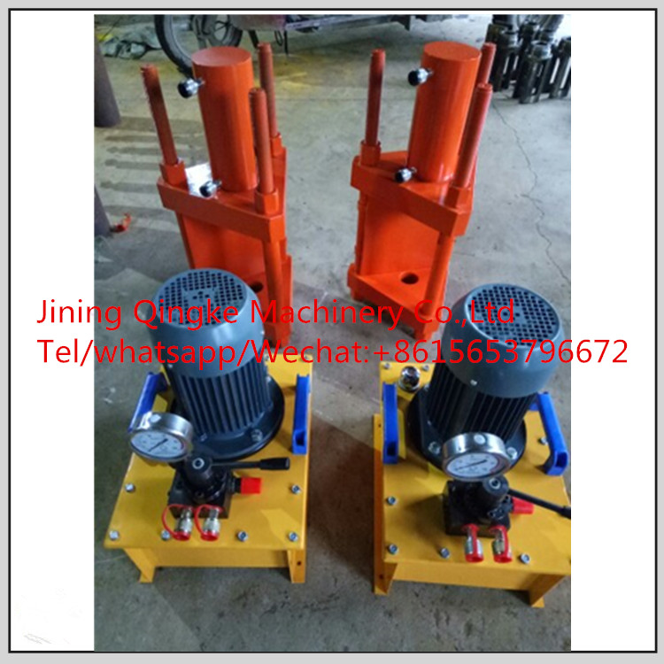Electric hydraulic crawler pin disassembly machine for track repair