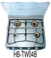 4 burner tempered glass gas cooker