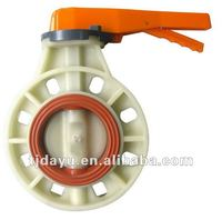 PP flange connection handle butterfly valves EPDM ISO OEM EXW