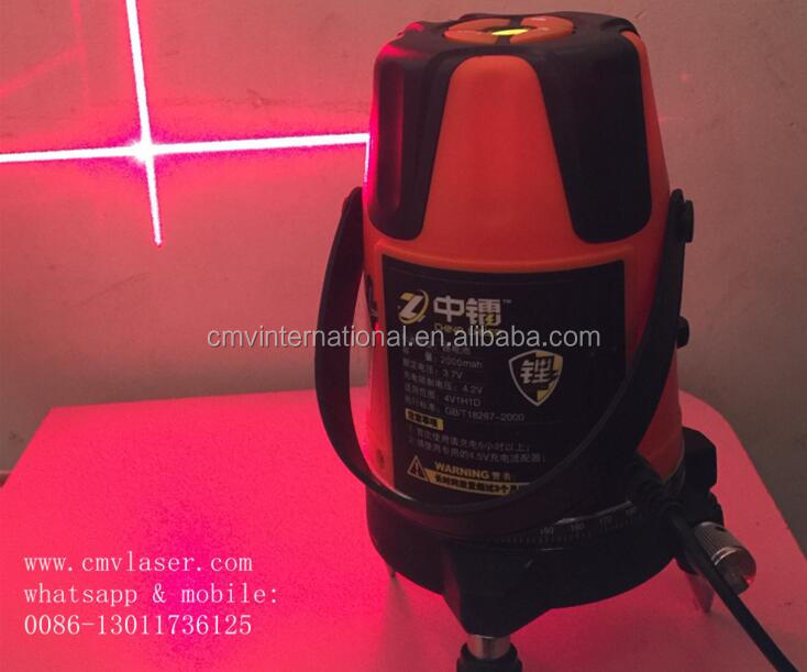 635 nm 2V1H1D Rotary Red Beam Laser Level