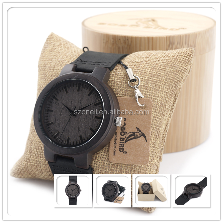Less MOQ wood hot selling 2016 watches men with OEM service