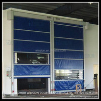 Industrial automatic high speed pvc roller shutter doors
