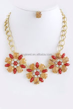 OVAL STONE NECKLACE big fashion necklace
