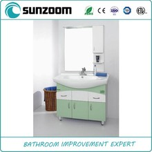 Sunzoom green bathroom cabinet with faucet option