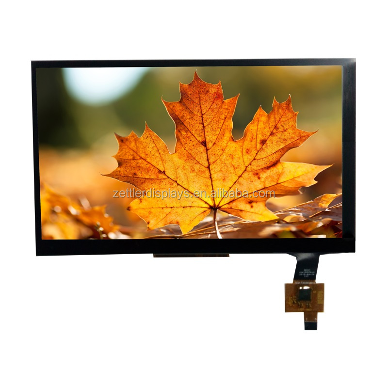 7 inch lcd display touch screen capacitive with brightness 425 nits and LVDS interface