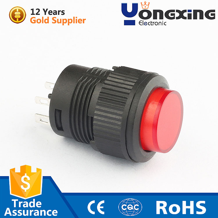 China wholesale 4 pin 1A momentary 16mm illuminated 120v 2 step push button switch