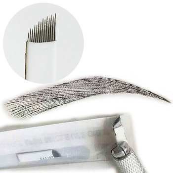 High Quality Slant and U Shape Eyebrow Embroidery Microblading Needle