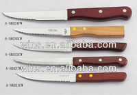 wood handle forever sharp steak knives