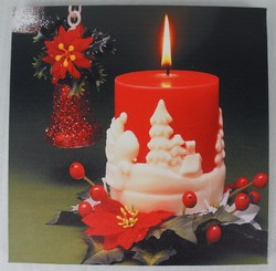 Xmas Holiday Candles Celebration Led Canvas Light Led Canvas Wall Art Light up Picture Frame