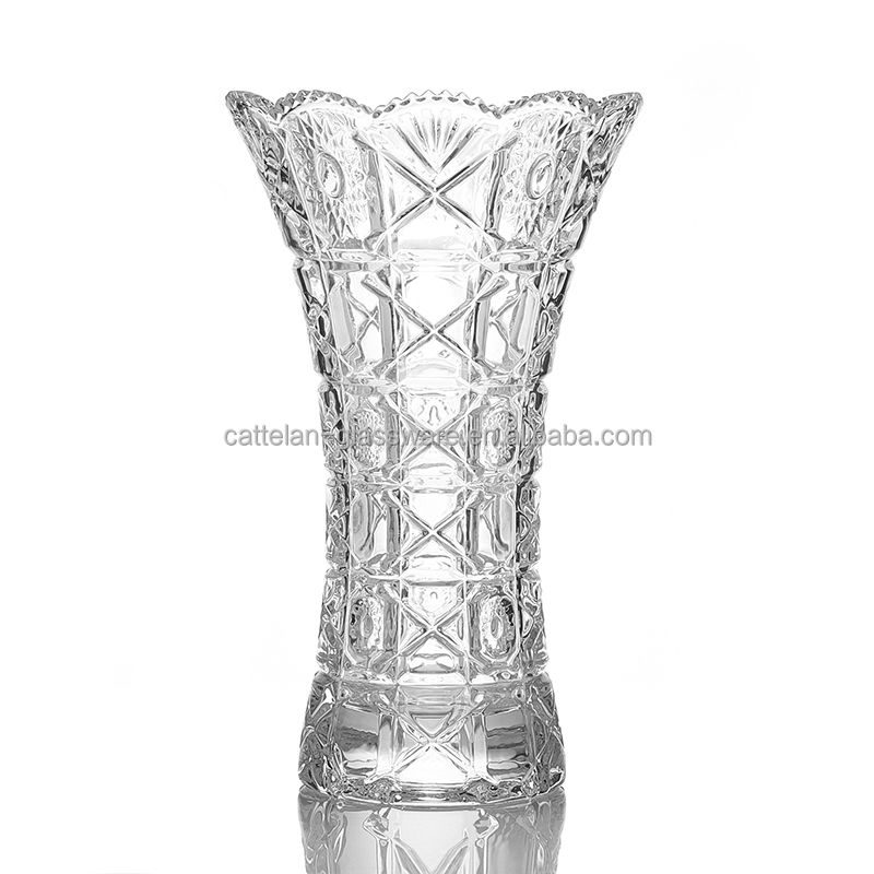 European style thick wall glass vase for house decoration