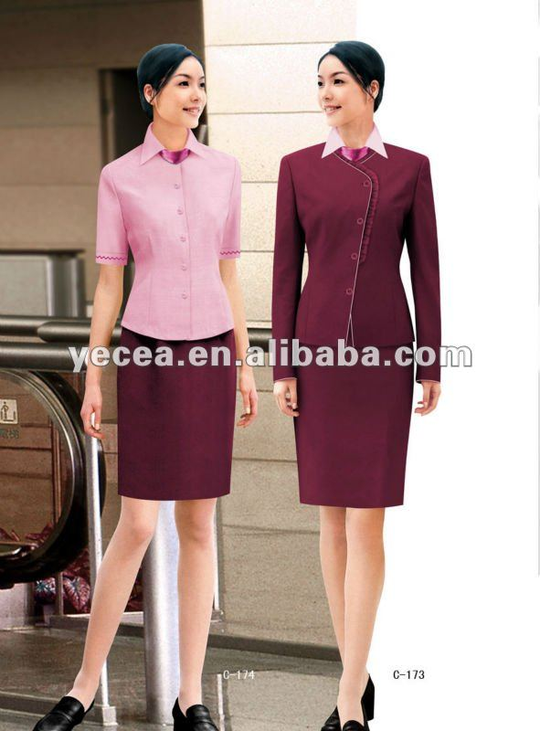 HOT selled customized ladies office career uniform 23