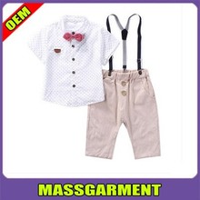 New fashion high quality custom print low price clothes for children boy wholesale