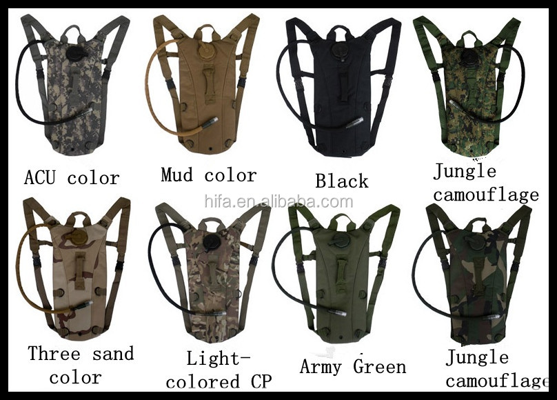 2.5L/3L Tactical Outdoor Hydration Water Backpack Bag with Bladder 8 Colors Free Shipping #gib