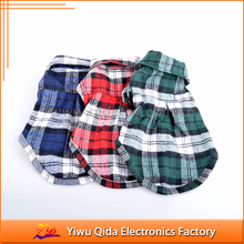 factory direct sales small cotton plaid teddy dog clothes cheap