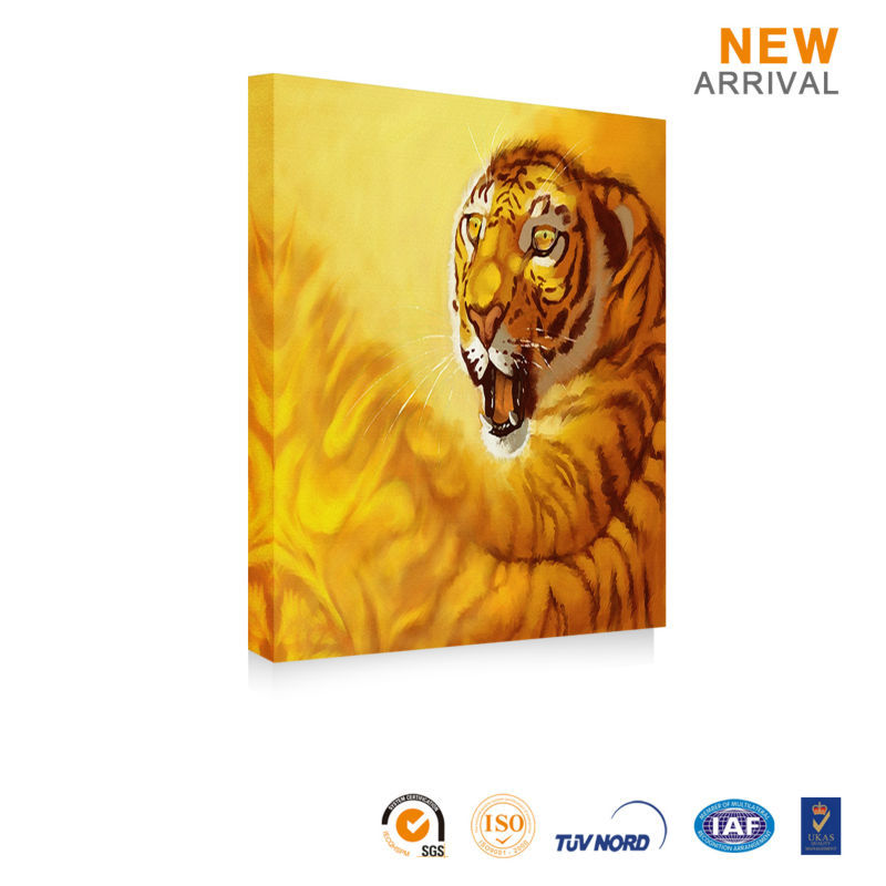 Chinese decorative pictures animal oil painting of tiger