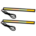 Led head light dc 12v auto accessories flexible car led daytime running light 4 colors 17cm 28SMD cob drl