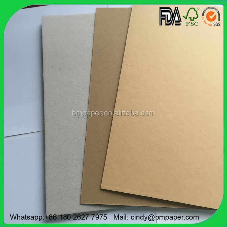 Moisture Proof Laminated Kraft Paper 1.0mm for Book Binding Cover