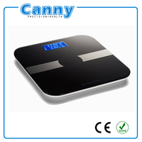 electronic digital glass weighing round bluetooth body fat scale 180kg