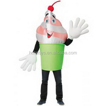 Hola ice cream mascot costume/ ice cream costumes
