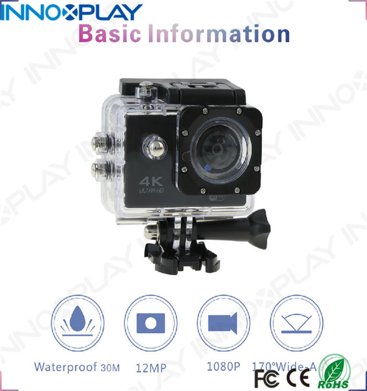 4K Sport Action Camera With 2 Inch LCD Screen 16 MP Full HD 1080P 60fps Wi-Fi Remote Control Waterproof Sports Camera