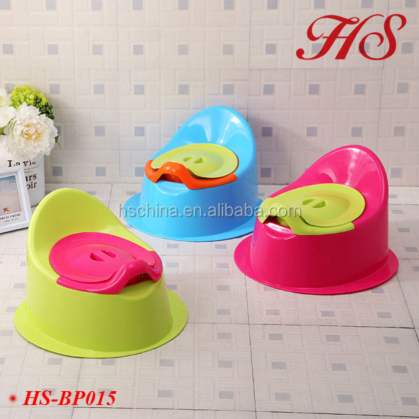 Plastic detachable candy-colored big baby potty toilet trainer potty chair
