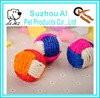Funny Cat Teaser Play Chewing Rattle Scratch Catch Toy Kitten Pet Sisal Rope Weave Ball
