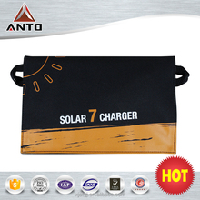 Hot sale portable solar panel 7w high power folding solar charger panel for iphone/ipad