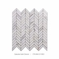 New Arrival Calacatta White Polished Chevron Mosaic Tile For Home Decoration