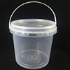 Plastic Buckets Tubs Containers 2L with Lids Food grade CLEAR