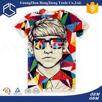 Cute pattern printed bulk wholesale t shirts clothing screen printing