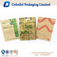 Small package plastic ziplock kraft foil lined seed paper bag