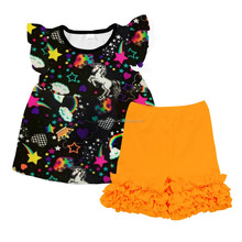 Hot sale boutique girl clothing baby clothes kids wear