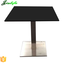 Heat resistant waterproof square black dining table tops