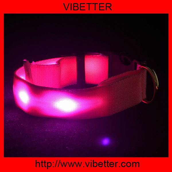 Lovoyager 2016 hot selling pet products light up LED pet collar and leash, light up your pets in the dark collar & leash