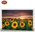 Nice Sunflower Poster Oill Painting with Fiber For Living Room Decoration