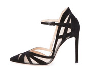 Fashion ladies 11cm high heel buckle new ladies party wear high quality women sandal sex pointed toe