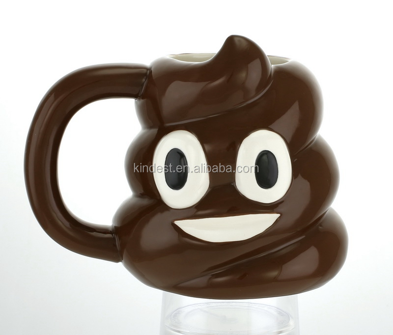 handmade funny shape ceramic 3d mugs for gift kids