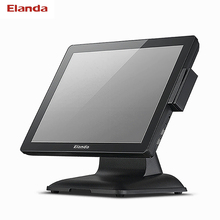 Cheap 15 inch touch pos terminal with 80mm thermal printer/dual screen point of sale pos terminal/ cash tills