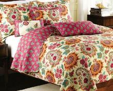 Yellow flower Patchwork Bedspread Quilt