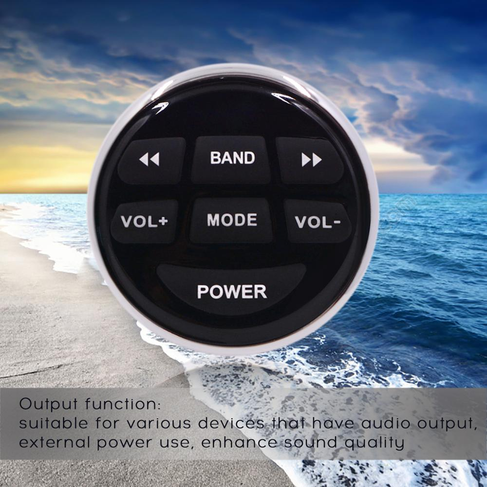 Waterproof Marine Radio FM AM MP3 Gauge Stereo Bluetooth Music with remote for BOAT ATV UTV SPA