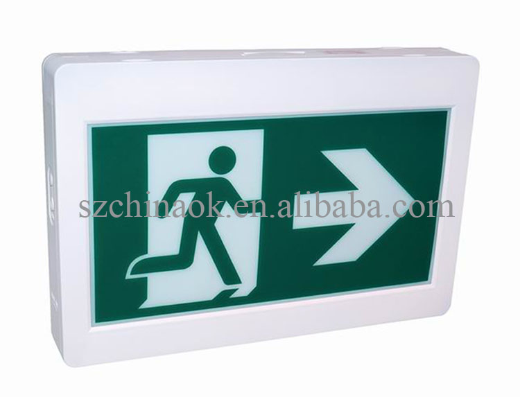 CET-100 cUL CSA LED Rechargeable Fire Emergency Running Man Exit Sign