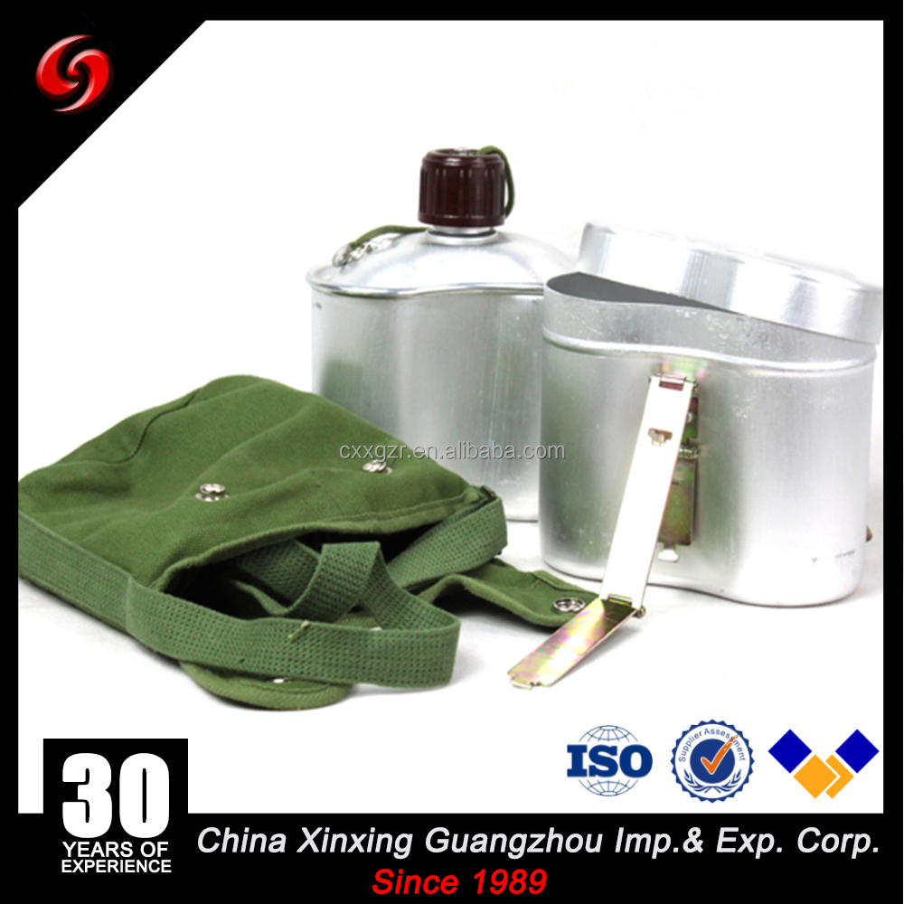1.3L Stainless Steel water canteen mess tin for army with cover