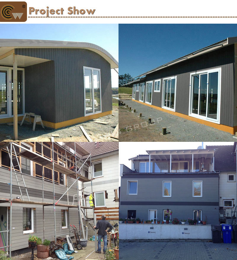 exterior wood composite house cladding before and after