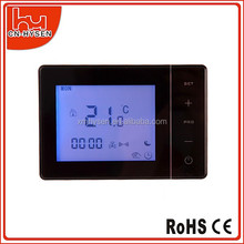 HY01WW High Accuracy LCD Disply Weekly Programmable Digital Room Thermostat For Water Heating 3A