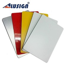 Alusign aluminum facade plate corrugated plastic outdoor sign panel aluminium column cladding