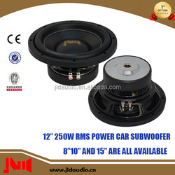 Hot Sell 12 Inch Car Audio Subwoofer With 250w rms Subwoofer Speaker